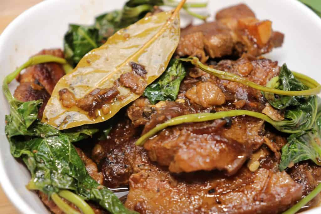 pork adobo with kangkong