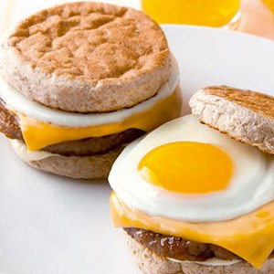 burger sandwich with egg and cheese