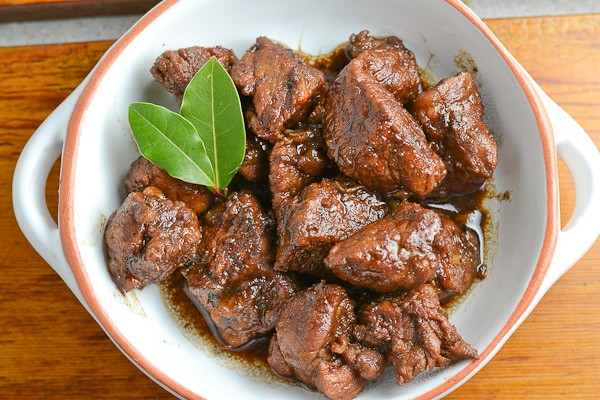 authentic pork adobo in a bowl