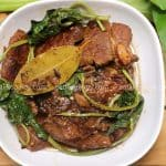 pork adobo with water spinach