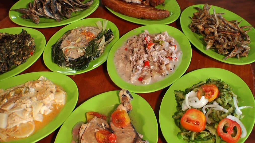 different dishes from bicol on plates