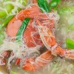 delicious crab with misua in a bowl