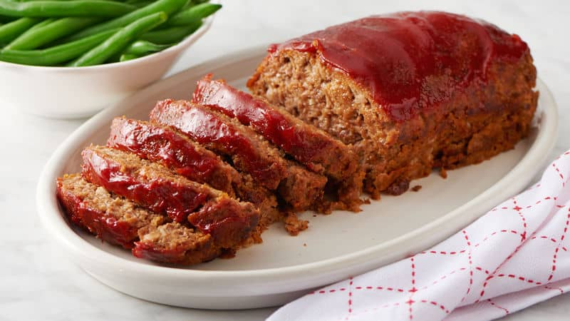homemade meatloaf on a plate