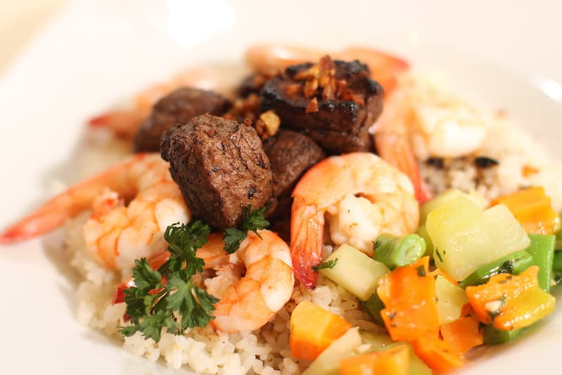 seafood salpicao top on rice
