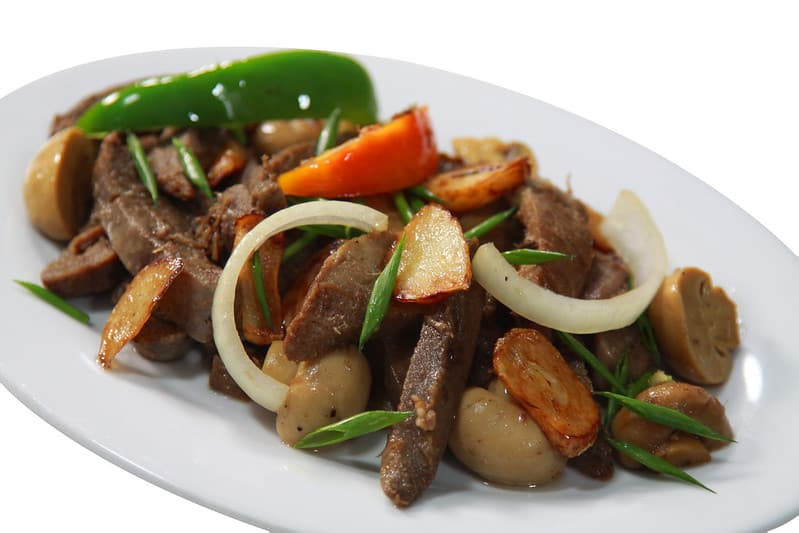 healthy salpicao with veggies on a plate