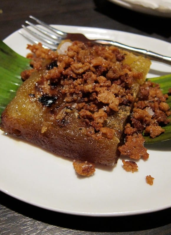 biko with latik on a small plate