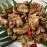 chicharong bituka with cayenne pepper